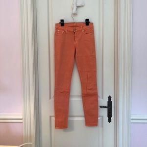 Peachy- orange jeans